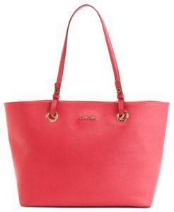 Calvin Klein Handbag, Key Item Saffiano Leather Tote $198 Buy at macys.com
