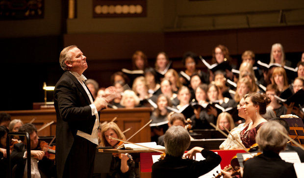 "Jerry Blackstone will conduct the UMS Choral Union and the Ann Arbor Symphony Orchestra during their ""Brahms' German Requiem"" performance on Friday, April 4 at 8 p.m. at the Hill Auditorium in Ann Arbor. (Courtesy of Mark Gjukich Photography)"
