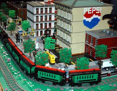 The Michigan Lego Users Group will be displaying a LEGO train and town at this year's Brick Bash event. (Courtesy of Sue Talbert Photography)