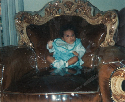 Me at four months old, a Princess in training.