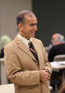 WCC Instructor Sabri Hummadi Alhussein in his classroom. Photo by Lynn Monson